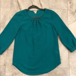Jcrew blouse *in person this is more green